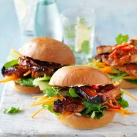 Pork Belly Rasher Burgers